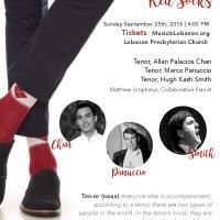 Three Tenors in Red Socks!