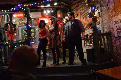 Members of OTRimprov performing in 'The Naughty List' (Photo by Cal Harris)