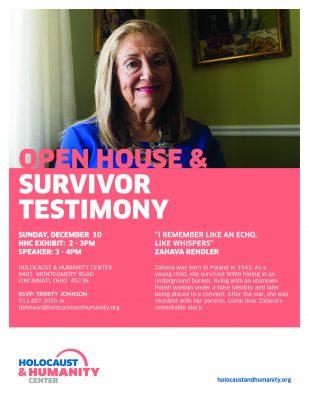 Open House & Holocaust Survivor Testimony