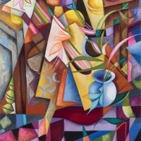 """""""Chromatic Curves"""" a Collection of Paintings by Cedric Michael Cox"""