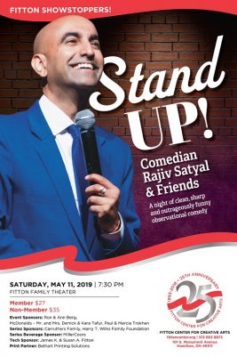 Fitton Showstoppers: Stand Up! Comedian Rajiv Satyal & Friends ​