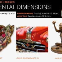 Elemental Dimensions: Fiber, Paper & Bronze
