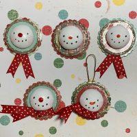Art with Elaine: Snowman Ornaments