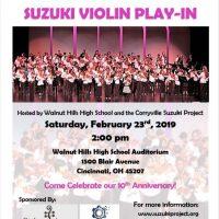 Cincinnati City-Wide Suzuki Violin Play-In
