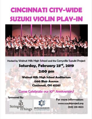 Cincinnati City-Wide Suzuki Violin Play-In