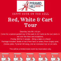 Happy Hour on the Hill - Red, White, & Cart Tour
