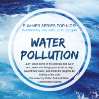 Summer Series For Kids - Water Pollution