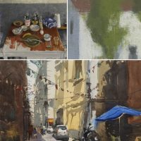 Opening Reception for Painted Biennial, Aquachrome Biennial, and Paintings by Joe Morzuch
