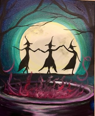 Colors & Cupcakes - Dancing Witches