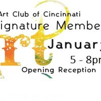 Exhibit Opening Reception for Woman's Art Club of Cincinnati Signature Member Show & Sale