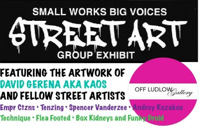 Small Works Big Voices Street Art - Group Exhibit