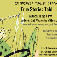 (CANCELED) Oxford Tale Spinners: True Stories Told Live