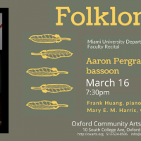 Folklore: Aaron Pergram ...A Miami University Faculty Recital
