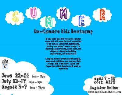 KIDS Summer Film Camp (June - July - August)