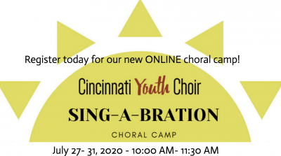 Sing-A-Bration Online Summer Choral Camp