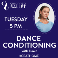 Cincinnati Ballet – Dance Conditioning on Facebook Live