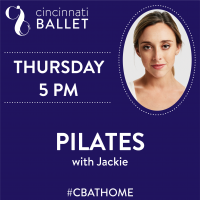 Cincinnati Ballet – Pilates on Facebook Live