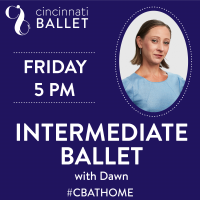 Cincinnati Ballet – Intermediate Ballet on Facebook Live