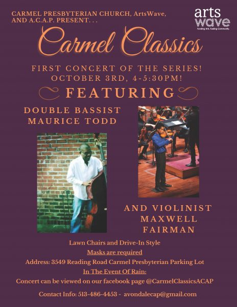 Carmel Classics featuring Maurice Todd and Maxwell...