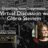 Unpacking Voter Suppression: A Virtual Discussion with Gloria Steinem
