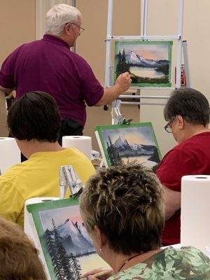 Paint the Bob Ross Way with Gary Waits at The Barn...