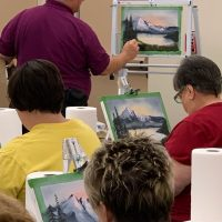 Learn to Paint the Bob Ross Way with Gary Waits at The Barn
