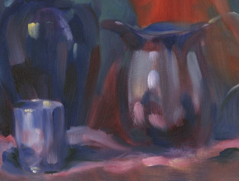 Thursday Confident Oil Painting at The Barn