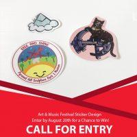 Call For Entry! Art & Music Festival Sticker Design Contest