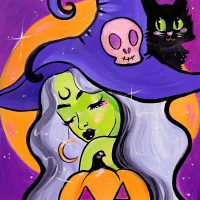 Colors on Canvas - Moon Shadow Witch